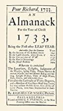 Poor RIchard, 1733, An Almanack For the Year…