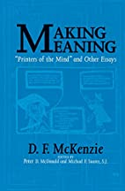 Making Meaning: Printers of the Mind and…