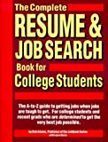 Adams, Bob: The Complete Resume & Job Search Book for College Students