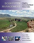 Ecosystem Management: Adaptive,…
