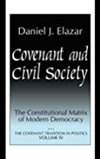 Covenant and Civil Society : The…
