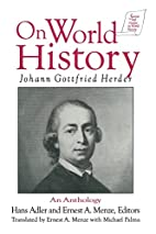 On World History: An Anthology (Sources and…