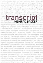 Transcript by Heimrad Bäcker