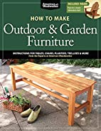 How to Make Outdoor & Garden Furniture:…