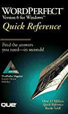 Wordperfect 6 for Windows Quick Reference…