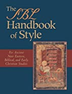 The SBL handbook of style : for ancient Near…