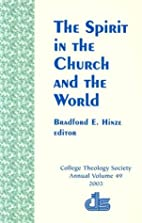 The Spirit in the church and the world by…