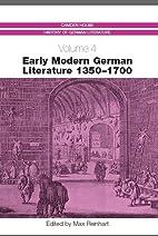 Early Modern German Literature 1350-1700…