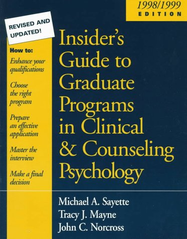 insiders-guide-to-graduate-programs-in-clinical-and-counseling-psychology-1998-1999-edition