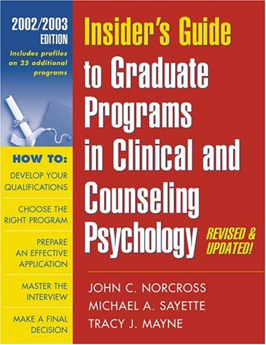 insiders-guide-to-graduate-programs-in-clinical-and-counseling-psychology-2002-2003-edition