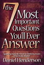 The 7 Most Important Questions You Will Ever…
