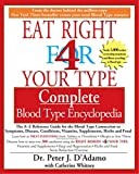 Whitney, Catherine: Eat Right for Your Type: Complete Blood Type Encyclopedia  The A-Z Reference Guide for the Blood Type Connection to Symptons, Disease, Conditions, Vitamins, Supplements, herb