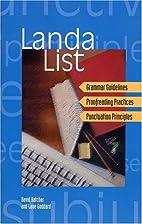 Landa List by David Hatcher
