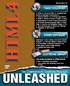 HTML 4 Unleashed by John Pozadzides