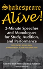 Shakespeare Alive!: 2-minute Speeches And…