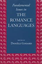 Fundamental Issues in the Romance Languages…