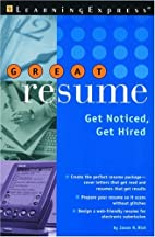 GREAT RESUME! (You're Hired! (Learning…