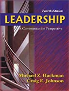 Leadership: A Communication Perspective by…