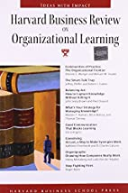 Harvard Business Review on Organizational…