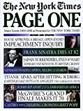 New York Times Staff: Page One: The New York Times Major Events 1900-1998