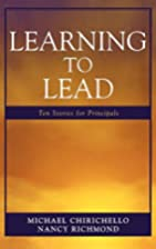 Learning to Lead: Ten Stories for Principals…