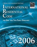 International Residential Code for One- and…