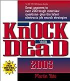 Knock 'Em Dead 2003 by Martin John Yate