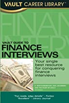 Vault Guide to Finance Interviews, 7th…