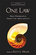 One Law: Henry Drummond on Nature's Law,…