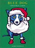 Rodrigue, George: Blue Dog Christmas Cards: Ho Ho Ho