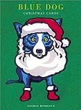 Rodrigue, George: Blue Dog Christmas Cards: Ho Ho Ho