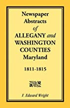 Newspaper Abstracts of Allegany and…
