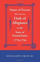 Names of Persons Who Took the Oath of…