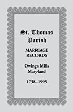 St. Thomas Parish Marriage Records, Owings…