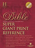 The Holman Super Giant Print Reference Bible…
