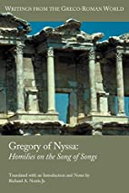 Gregory of Nyssa: Homilies on the Song of…