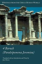 4 Baruch (Paraleipomena Jeremiou) by Jens…