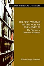 The we passages in the Acts of the…