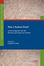 Was 1 Esdras first? : an investigation into…