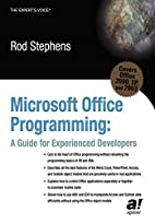 Microsoft Office Programming: A Guide for…