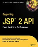 Panduranga, Sathya Narayana: Beginning Jsp 2: From Novice to Professional