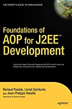 Foundations of AOP for J2EE Development by…