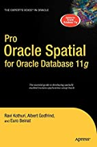 Pro Oracle Spatial for Oracle Database 11g…