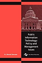 Public Information Technology: Policy and…