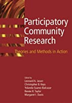 Participatory Community Research: Theories…