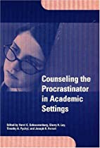 Counseling the Procrastinator in Academic…