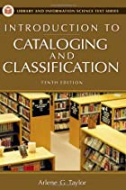 Introduction to Cataloging and…