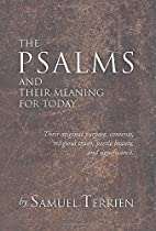 The Psalms and their meaning for today by…