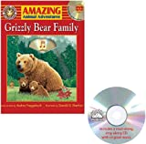 Audrey Fraggalosch: Amazing Animal Adventures: Grizzly Bear Family (Staplebound, Paperback Book, CD)