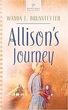 Allison's Journey: Brides of Webster…